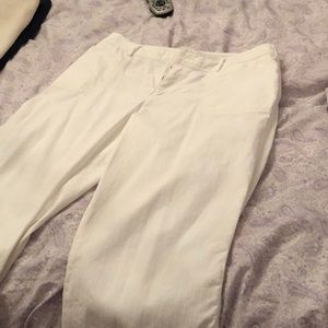 Pants - Chico's ankle length white pants